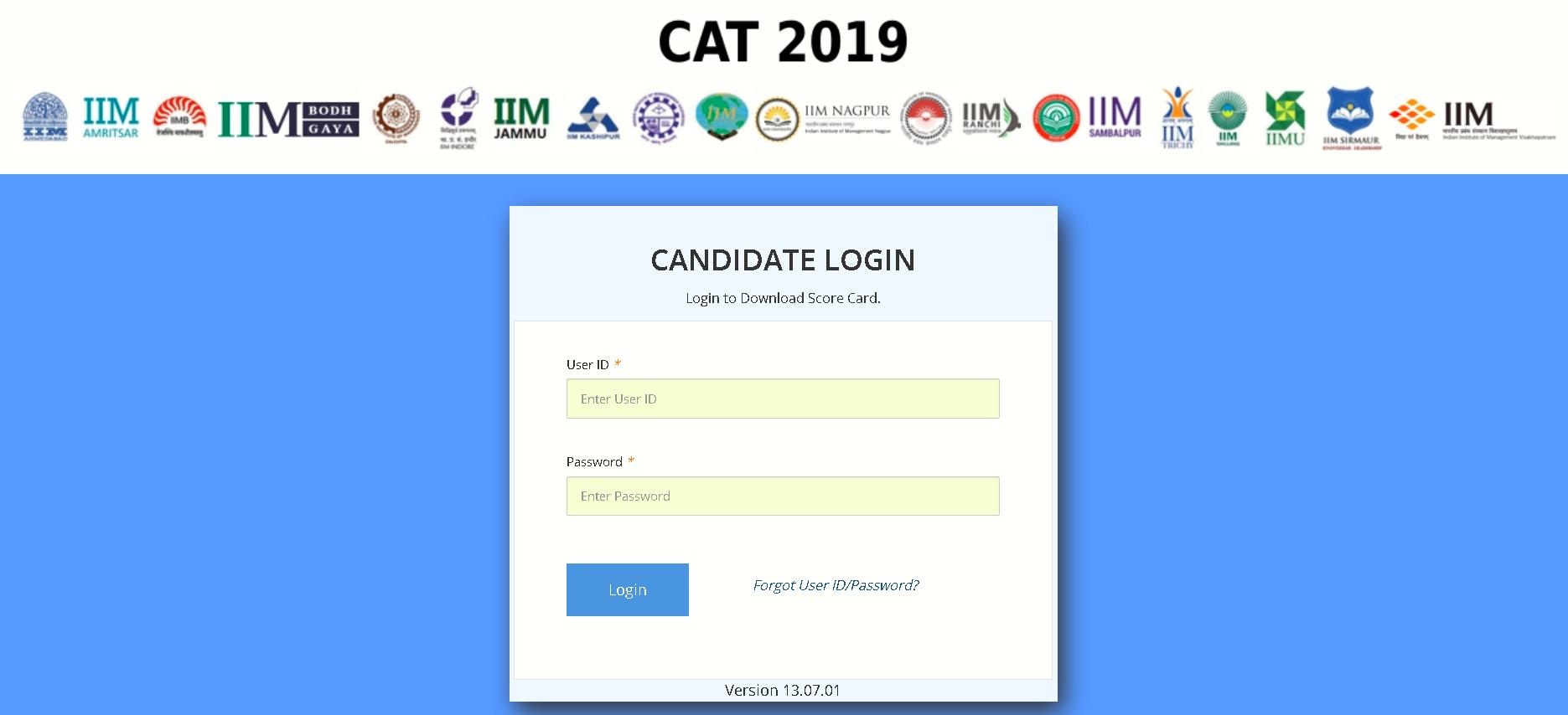 CAT Exam 2019 Result